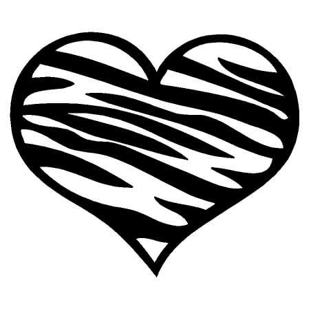 Zebra Print Heart ebn3172 Vinyl Decal Sticker Multiple Colors /& Sizes