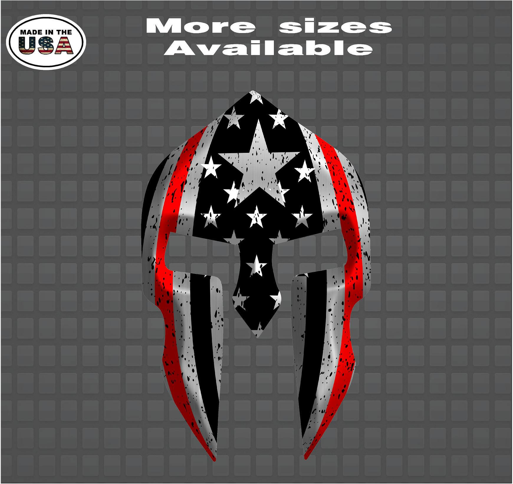 Fireman Firefighter Thin Red Line Spartan Helmet Vinyl Decal Sticker